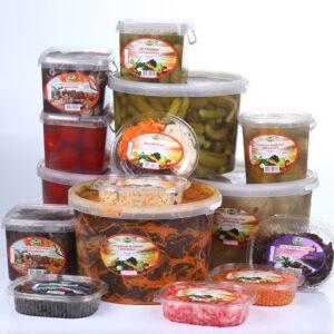 Салаты по-корейски, маринованные овощи, грибы