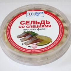 Сельдь со специями кусочки филе