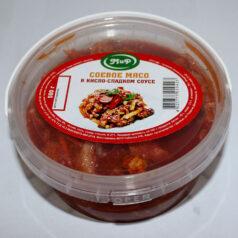 Соевое мясо в кисло-сладком соусе